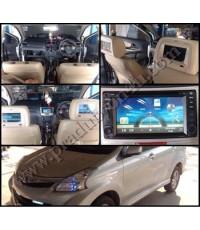 เครื่องเสียงติดรถ New Avanza 2013 จอตรงรุ่นพร้อม GPS นำทางและจอฝังหมอน ฟรีกล้องมองหลัง