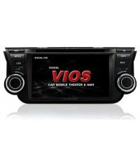 เครื่องเสียงตรงรุ่น New Vios 2013 จอทีวีแบบมี GPS นำทางในตัว รองรับระบบทีวีดิจิตอล