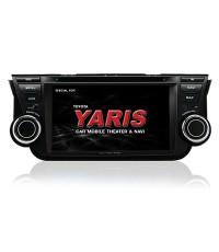เครื่องเสียงตรงรุ่น New Yaris 2014 แบบมี GPS นำทางในตัว และรองรับระบบทีวีดิจิตอล