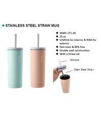 Stainless steel straw mug