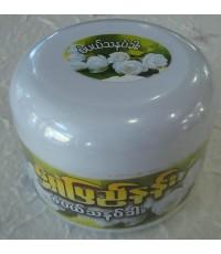 แป้งพม่า ทานาคากระปุกใหญ่ เนื้อแป้งอัดแข็ง กลิ่นมะลิ