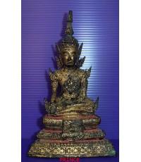 พระบูชารัตนะ ปางมารวิชัย หน้าตัก 2 นิ้วเศษ ทองเดิม ๆ สวยมากๆ