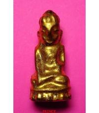 พระบัวเข็มลงรักปิดทอง พระเก่าศิลปะมอญพม่า ขนาดจิ๋วห้อยคอ สภาพสวยสมบูรณ์มากๆ