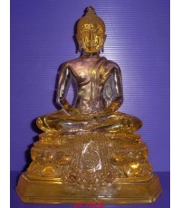 พระพุทธรูปบูชาปางสมาธิ วัดปากน้ำภาษีเจริญ ธนบุรี เนื้อเรซิ่นใส ยุคเก่า หน้าตัก 5 นิ้ว ผิวหิ้ง หายาก