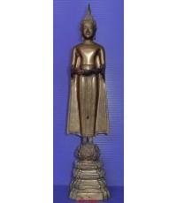 พระบูชาหลวงพ่อบ้านแหลม วัดเพชรสมุทรวรวิหาร จ.สมุทรสงคราม ยุคเก่า สูง 11 นิ้ว ผิวหิ้งเดิม สภาพสวยมากๆ