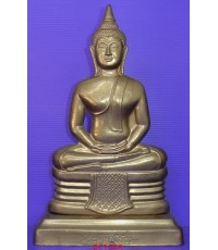 พระบูชาแผ่นปั๊ม(หน้ากาก) หลวงพ่อพระพุทธโสธร วัดโสธรวรารามวรวิหาร รุ่นสร้างพระอุโบสถ ปี 2539