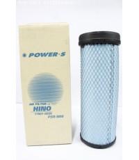 ไส้กรองอากาศ POWER-S สำหรับ รถบรรทุก ฮีโน่ HINO FC ใหม่(ตัวใน)(17801-3020) อะไหล่แท้(รหัส PSA-989-S)