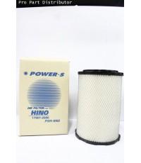 ไส้กรองอากาศPOWER-S สำหรับ รถบรรทุก ฮีโน่ HINO MEGA 6 ล้อ (17801-2980)  อะไหล่แท้ (รหัส PSA-990-S)