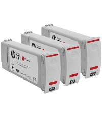 HP CR251A ( HP 771 Chromatic Red ) InkJet Cartridges (3/Pack)