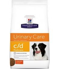 Hill\'s Prescription Diet c/d (Urinary Care)  อาหารสุนัขป้องกันโรคนิ่ว 3.86 กก (PreOrderรอของ 7 วัน)