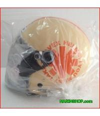 หมวกกันน็อค ยี่ห้อ AVEX รุ่น Teenage LB Weel สีครีม-ส้ม พร้อมส่งฟรี