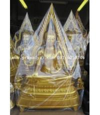 พระพุทธรูป พระพุทธชินราช ขนาด 20 นิ้ว เนื้ออัลลอยด์ พ่นทอง