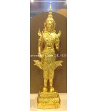 เทวรูปบูชา พระสยามเทวาธิราช 9 นิ้ว ปิดทองแท้