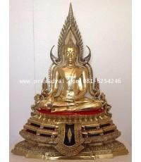 พระบูชา พระพุทธชินราช หน้าตัก 12 นิ้ว เนื้อทองเหลือง ขัดเงา