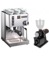 เครื่องชงกาแฟ Rancilio Silvia เครื่องบดกาแฟ Akira 600N