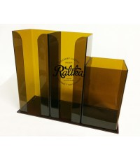 ช่องใส่แก้วและใส่หลอด ขนาด 3 ช่อง คละสี (98 mm.)