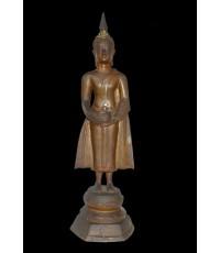พระบูชารัชกาลเนื้อแดง ยืนอุ้มบาตร สูง 11 นิ้ว