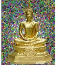 พระบูชา  หน้าตัก 9 นิ้ว ลงรักปิดทอง ใต้ฐานดินฝรั่ง (พระบูชาองค์ที่ 270)