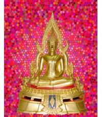 พระพุทธชินราช หน้าตัก 5 นิ้ว ลงรักปิดทอง ซุ้มถอดได้ (พระบูชาองค์ที่ 271)