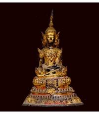 พระพุทธรูปนั่งทรงเครื่อง สมัยรัตนโกสินทร์  พุทธศตวรรษที่ 24- 25