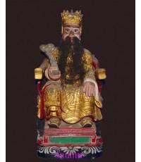 เทพจีน เก่ามาก ปิดทองเดิม ๆ สร้างด้วยไม้ทั้งองค์ (หมวดพระบูชาองค์ที่ 343)
