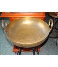 กระทะทองเหลืองรุ่นเก่า ใบใหญ่ ขนาด 17.5 นิ้ว