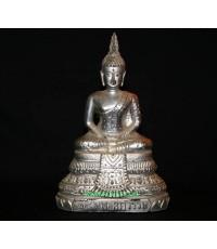 พระแก้วมรกต ปี 2500 (ขนาดใหญ่) เคลือบบรอน์เงินเดิมๆ  สวยมาก  (หมวดพระบูชาองค์ที่ 423)