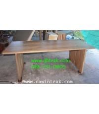 โต๊ะไม้สัก โต๊ะทานข้าวไม้สัก ใช้ไม้จริง มีความหนา 1.5 นิ้วทั้งหลัง