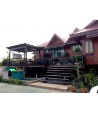 ขายบ้านไม้สไตล์ล้านนาทรงไทย อำเภอสารภี