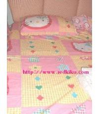 (Sold out)ชุดผ้าปูเตียง คิดตี้ 3.5 ฟุต ลายน่ารัก สินค้านำเข้า (คลิกดูลาย)