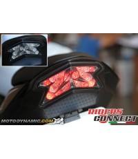 MOTODYNAMIC LED TAILIGHTS SMOKE (ไฟท้าย LED พร้อมไฟเลี้ยวในตัว) สี Smoke สำหรับ Kawasaki Z800