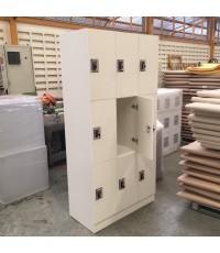 ตู้ล็อคเกอร์พีวีซี รุ่น PLK-6109 9 ช่อง ขนาด 90*45*185 ซม.