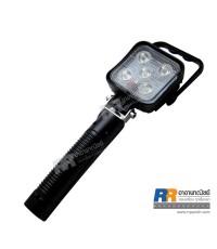 ไฟสปอร์ตไลท์ LED แบบมือถือพกพา เหลี่ยม กำลังไฟ 15 Watt (พร้อมที่ชาร์จไฟบ้าน และ ที่ชาร์จไฟในรถ)