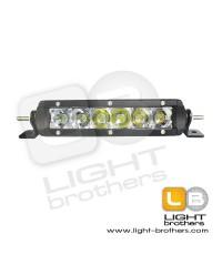 ไฟสปอร์ตไลท์ LED Off Road Light Bar แถบบาร์เดี่ยว 7.5 นิ้ว, 30 Watt ( LED 6 ดวง x 5 Watt) ไฟ 12V-24V