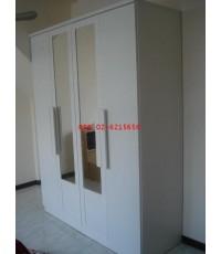 ตู้เสื้อผ้าแกมม่า ขนาด 160 cm  หน้าบานกระจกเงา 2 บาน