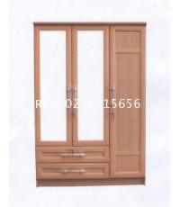 ตู้เสื้อผ้า 3 บานกว้าง 135 cm  กระจกเงา 2 บาน