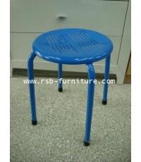 เก้าอี้เหล็กรู มีหลายสี ราคาส่ง รหัส 537
