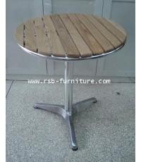 โต๊ะกลม หน้าโต๊ะไม้ โครงเหล็ก ราคาส่ง