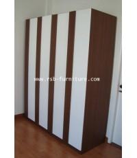 (สินค้าหมด)ตู้เสื้อผ้า คูออน 160 cm ปิดผิว HIGH GLOSS