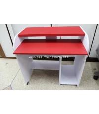 โต๊ะคอมพิวเตอร์ โต๊ะทำงาน รุ่นเปียโน ชั้นคีย์บอร์ดล็อคตาย