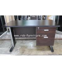 โต๊ทำงาน โต๊ะสำนักงาน 120 cm ขาเหล็กปั๊มเงา