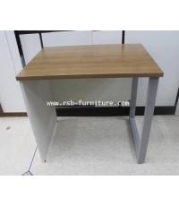 โต๊ะคอมพิวเตอร์ โต๊ะทำงาน 80 cm ขาไม้สลับขาเหล็ก