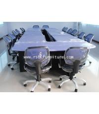 โต๊ะประชุม ตัวต่อ 600 * 180 cm จำนวน 14-18 ที่นั่ง ขอบมนหนา 36 mm