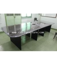โต๊ะประชุม 350 cm ผิวลามิเนต ตัวต่อ 2 ชิ้น