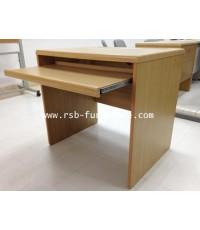 โต๊ะคอมพิวเตอร์ โต๊ะทำงาน 80 cm ลบมุมที่ขอบ คีย์บอร์ดล็อครางกันตก