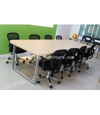 โต๊ะประชุมทรงเหลี่ยม ขาเหล็กตัว C ลบมุม 4 ด้าน ขา 3 ชิ้น รหัส 1335 (เลิกผลิตแล้ว)