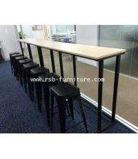 โต๊ะอเนกประสงค์แบบยืน ขาเหล็กทรงกลมสีดำ W200XD50XH115CM รหัส 1351
