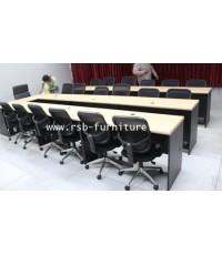 โต๊ะประชุม ตัวต่อ ขนาด 435 cm ขนาด 13-15  ที่นั่ง