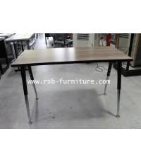 โต๊ะคอมพิวเตอร์ โต๊ะทำงาน ขาเหล็กตัว V พ่นสีดำ 120 cm เมลามีนสีพิเศษ