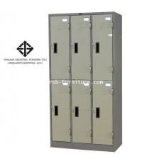 ตู้ล็อกเกอร์ 6 ประตู รุ่น LK-006 (มี มอก.1284-2538) รหัส 1439